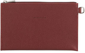 Longchamp Le Foulonne Pochette Clutch Bag - BURGUNDY - STYLE