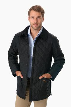 Barbour Men's Black Quilted Liddesdale Jacket