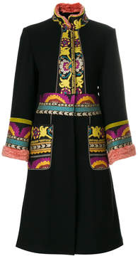 Etro embroidered cardi-coat