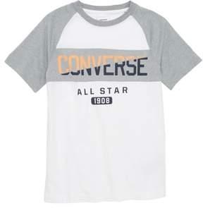 Converse Spliced Graphic Raglan T-Shirt