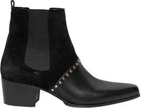 Balmain 40mm Artemisia Suede & Leather Boots