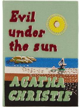 Olympia Le-Tan Agatha Christie embroidered book clutch