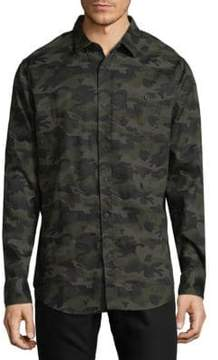 Sovereign Code Camouflage Cotton Button-Down Shirt