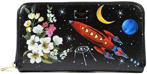 Dolce & Gabbana Spaceship Zip Around Wallet - BLACK - STYLE