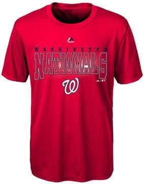Majestic Boys 8-20 Washington Nationals Light Up the Field Cool Base Tee