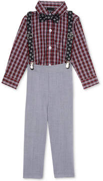 Nautica 4-Pc. Bowtie, Suspenders, Shirt & Pants Set, Baby Boys (0-24 months)