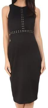 Jessica Simpson Women's Studded Sheath Dress (Black, 6)