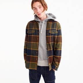 J.Crew Wallace & Barnes heavyweight flannel shirt in brown plaid