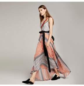 Amanda Wakeley   Clementine Lilac Printed Long Slip Dress   L   Multicolor