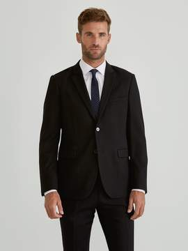 Frank and Oak The Laurier Textured Stretch-Wool Suit Jacket in Black