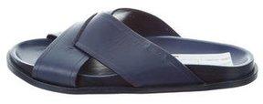 Fendi Leather Slide Sandals