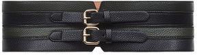 BCBGMAXAZRIA Faux-Leather Contour Waist Belt