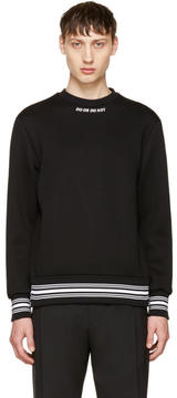 Neil Barrett Black Do or Do Not Sweatshirt