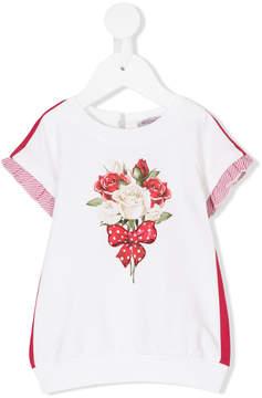 MonnaLisa rose print embellished dress