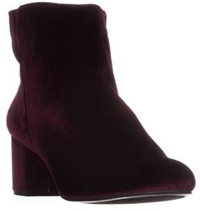 Zigi Soho Rebel By Nanon Block-heel Ankle Boots, Wine.