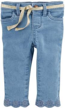Osh Kosh Oshkosh Bgosh Baby Girl Eyelet Embroidered Jeans