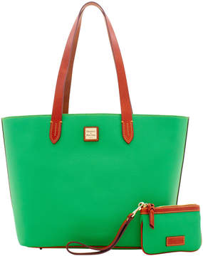 Dooney & Bourke Eva Large Zip Shopper & Medium Wristlet - KELLY GREEN - STYLE