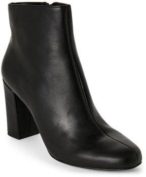Tahari Black Selena Leather Ankle Booties