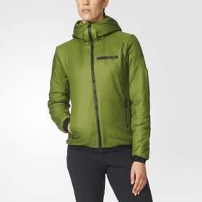 adidas Outdoor Women's Terrex Ndosphere II Flex Hooded Jacket, Craft Green, X-Large