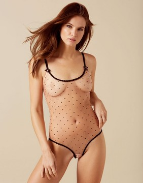 Agent Provocateur Poppie Body Nude And Black