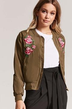 Forever 21 Floral Bomber Jacket