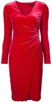 Black Halo ruched detail fitted dress