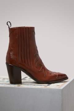 Sartore Heeled Flare Boots