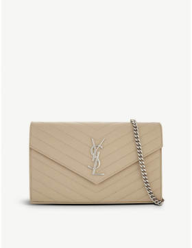 Saint Laurent Monogram quilted medium envelope clutch bag - POUDRE - STYLE