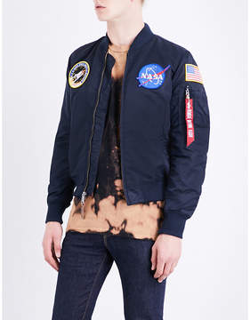 Alpha Industries NASA MA-1 satin flight jacket