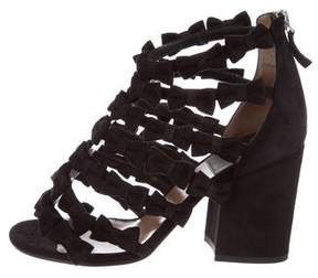 Laurence Dacade Suede Caged Sandals