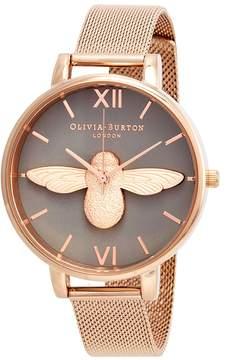 Olivia Burton 3D Bee Grey Dial Ladies Watch