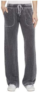 Allen Allen French Terry Long Cargo Pants Women's Casual Pants
