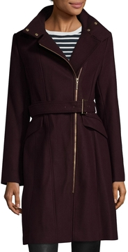Cole Haan Women's Wool Blend Belted Jacket