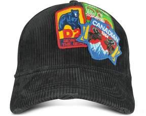 DSQUARED2 Black Velvet Patches Baseball Hat