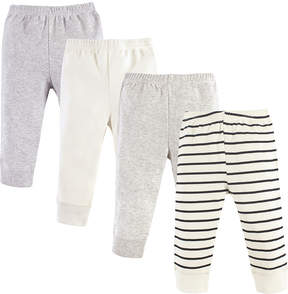 Luvable Friends Cream Stripe Joggers - Set of Four