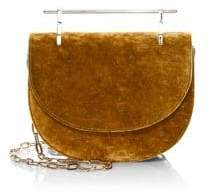 M2Malletier Mini Half Moon Silk Velvet Crossbody Bag