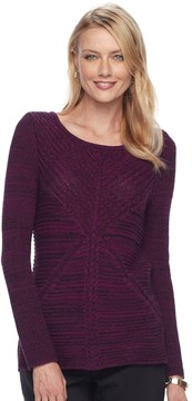 Dana Buchman Women's Mixed-Stitch Textured Sweater