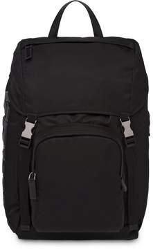 Prada logo appliqué backpack