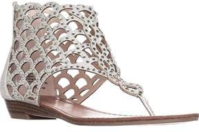 Zigi Soho Mela Caged Gladiator Flat Sandals, Silver.