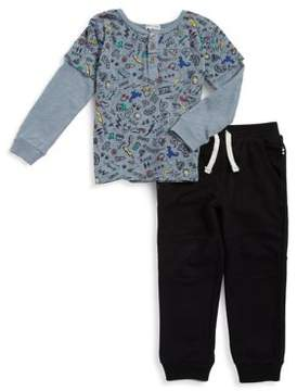 Splendid Toddler's & Little Boy's Two-Piece Rock and Music Top and Joggers Set
