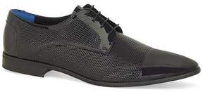 Topman Mens Black Patent Leather Murray Derby Shoes