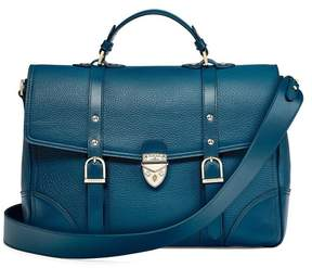 Aspinal of London Large City Mollie Satchel In Topaz Pebble