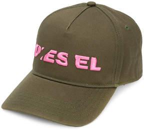 Diesel embroidered logo cap