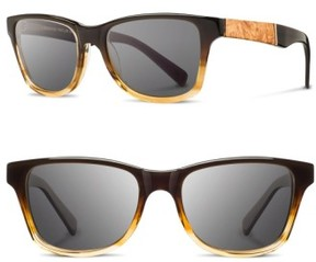 Shwood Women's 'Canby' 53Mm Sunglasses - Sweettea/ Maple/ Grey