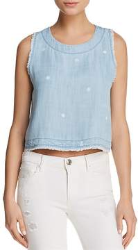 Bella Dahl Fringed Button-Down-Back Top