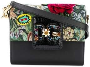 Dolce & Gabbana floral embroidered shoulder bag