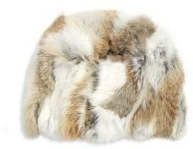 Adrienne Landau Textured Rabbit Fur Beanie