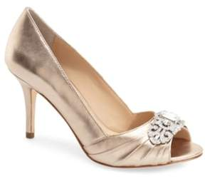 Nina Women's 'Verity' Swarovski Peep Toe Pump