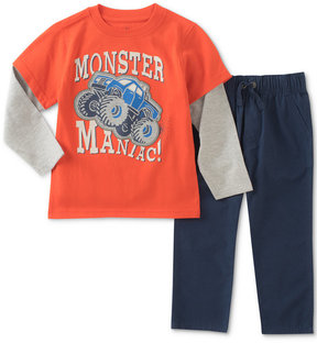 Kids Headquarters Monster Truck Graphic-Print Shirt & Pants Set, Little Boys (4-7)