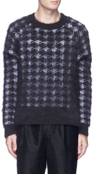 Haider Ackermann Houndstooth jacquard brushed sweater